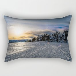 Sunset in Winter Rectangular Pillow