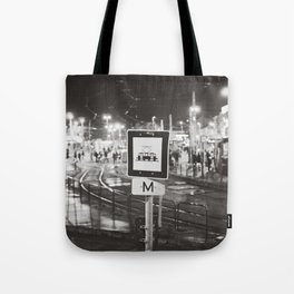 bus stop Tote Bag