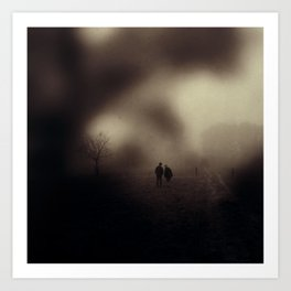 I Will Follow You Into The Dark Art Print