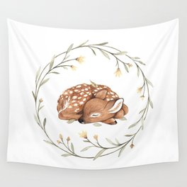 Wildflower Fawn Wall Tapestry