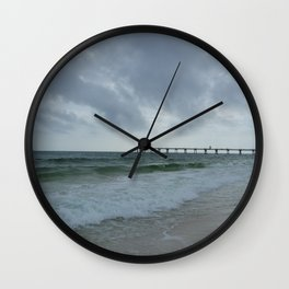 Stormy Sea Day  Wall Clock