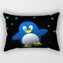 Dancing Penguin in the Dark Rectangular Pillow