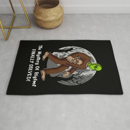 Alien Bigfoot Mystery Solved Conspiracy Rug