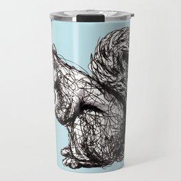 Blue Woodland Creatures - Squirrel Travel Mug