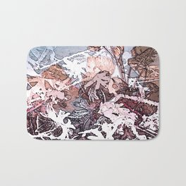 Frosty Transformation to Winter - An abstracted impression Bath Mat