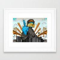 graffiti Framed Art Prints featuring Graffiti by Helen Kaur