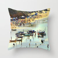 rowing Throw Pillows featuring Rowing Regatta by Chris' Landscape Images & Designs