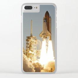 Space Shuttle Atlantis Clear iPhone Case