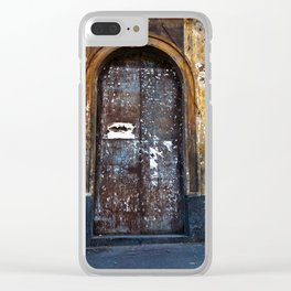 Old Sicilian door of Catania Clear iPhone Case