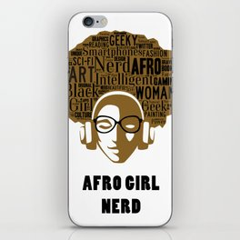 Afro Nerd Girl iPhone Skin