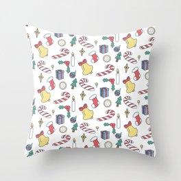 Christmas Time Pattern Throw Pillow
