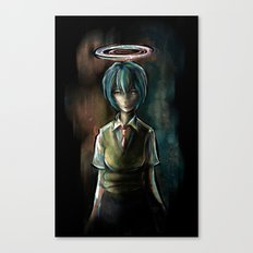Ayanami Rei Evangelion Character Digital Painting Canvas Print