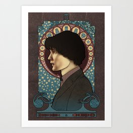 11th Doctor art nouveau , Doctor Who , TARDIS Art Print