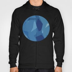 Blue Abstract Map Hoody