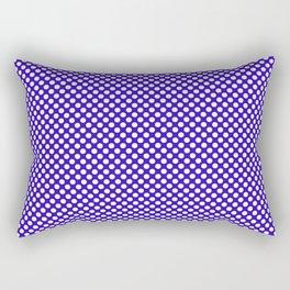Blue Gem and White Polka Dots Rectangular Pillow