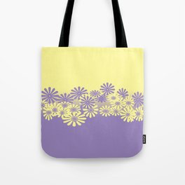 Lavender and Lemon Pattern Tote Bag