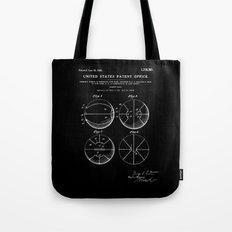 Basketball Patent - Black Tote Bag
