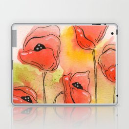 Coral Florals Laptop & iPad Skin