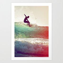 Danse avec les vagues Art Print