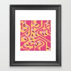 Flamingo Maze Framed Art Print