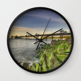Pier Sunset Wall Clock