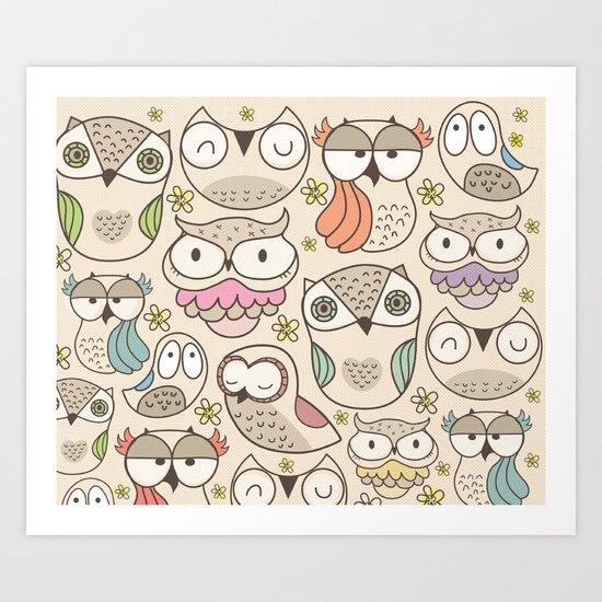 The owling Art Print