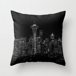 Seattle City Lights Throw Pillow