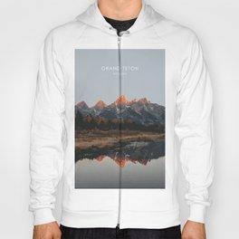 Grand Teton National Park, Wyoming Travel Artwork Hoody