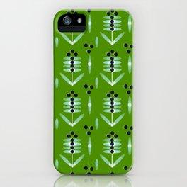 Berries Black Pattern - by Matilda Lorentsson iPhone Case