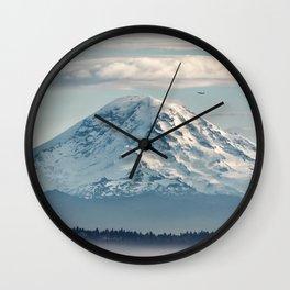 Seattle Mount Rainier Wall Clock