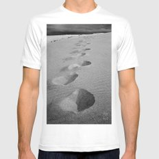 Steps to nowhere Mens Fitted Tee MEDIUM White