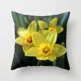 Daffodil Trio Throw Pillow