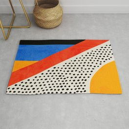 Mid Century Abstract Landscape Rug