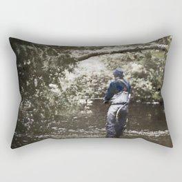 Trout River Fishing Rectangular Pillow