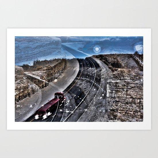 Highway Choices Art Print