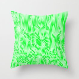 Pastel smudges stains of delicate colors with green. Throw Pillow