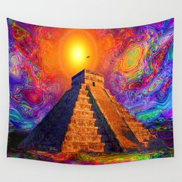 Mayan Pyramid   Wall Tapestry