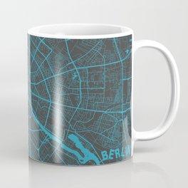 Berlin Map blue Coffee Mug
