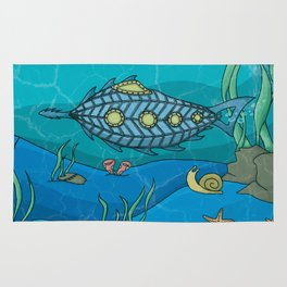 Nautilus under the sea Rug