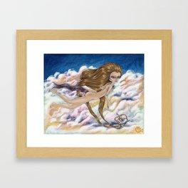 Look Out Below Framed Art Print