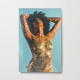 Beauty foster - skin and gold Metal Print