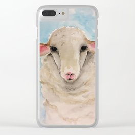 Little Lambs Eat Ivy Clear iPhone Case