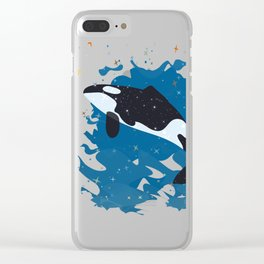 whale lover T-shirt Clear iPhone Case