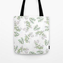 Jasmine Flower Illustration Tote Bag