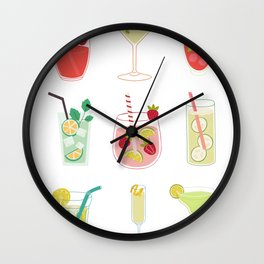 cocktails menu Wall Clock