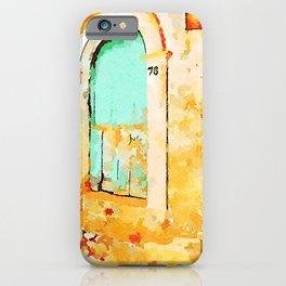 Old green door  iPhone Case