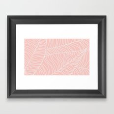 TROPICAL LEAVES - pink palette Framed Art Print