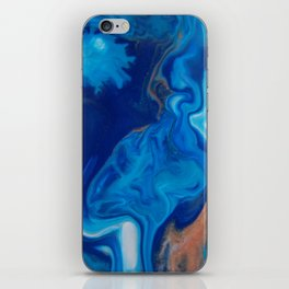 Fluid Nature - Blue Smoke - ABstract Acylic Pour Art iPhone Skin