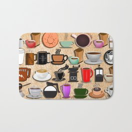 Coffee Mugs, Cups and Makers Bath Mat