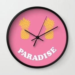 Pineapple Paradise Wall Clock